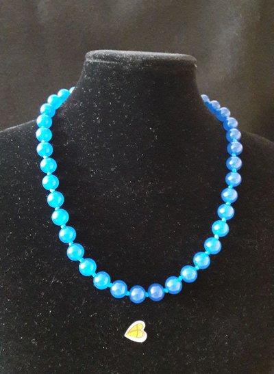 Collana Onice Blu