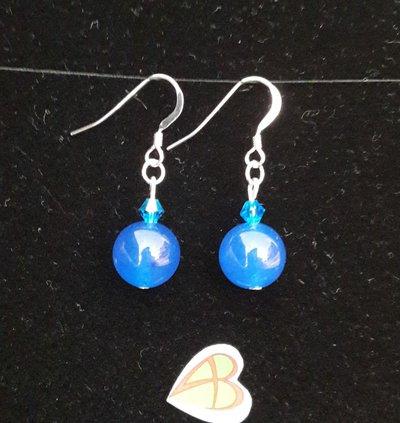 Orecchini Onice Blu