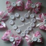 LOTTO 15 pz- Portaconfetti con fiore in polvere di ceramica