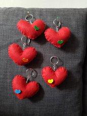 porta chiavi cuore
