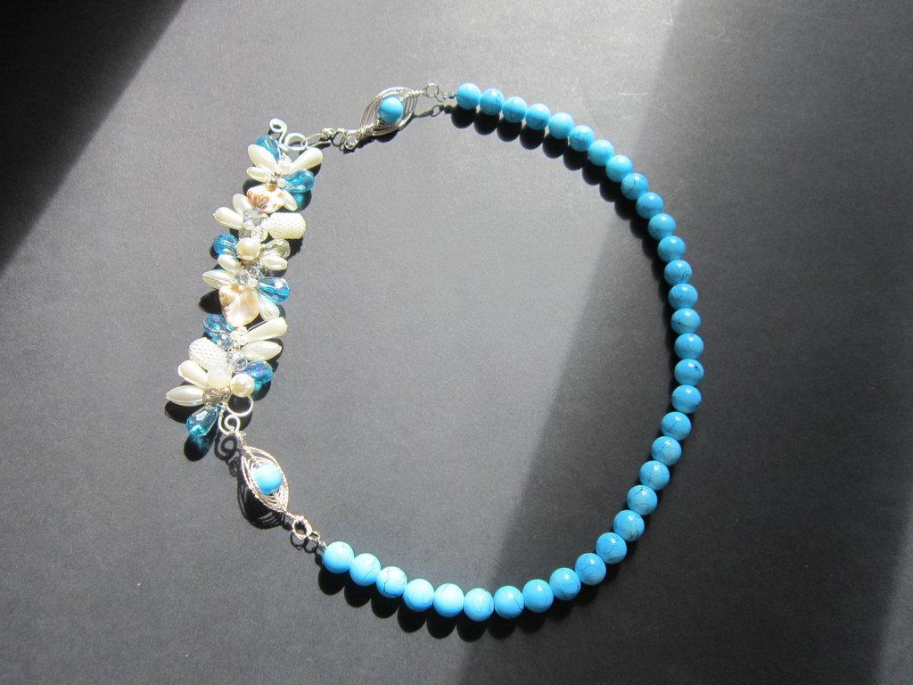 Collana Perle Oceano Azzurra