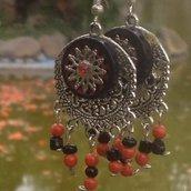 Gaia: Orecchini con bottone stile indiani