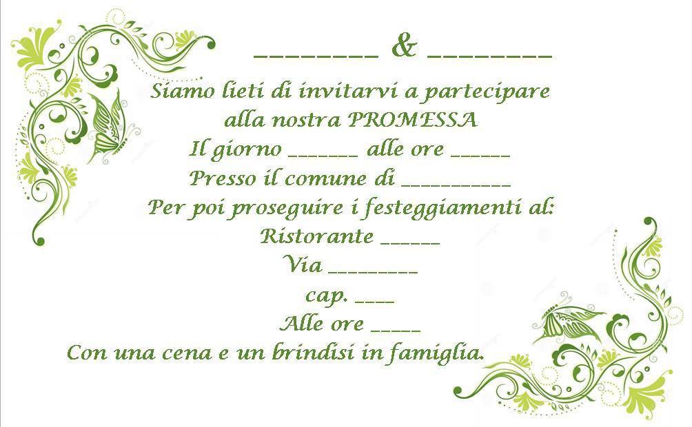 INVITO PROMESSA DI MATRIMONIO