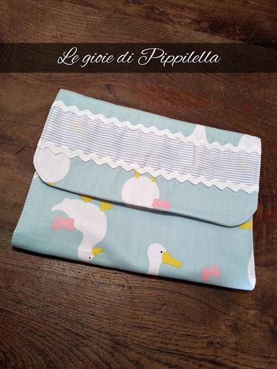 Porta pannolini bebe' da borsetta fantasia papere, idea regalo