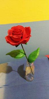 Fiore rosa in eva