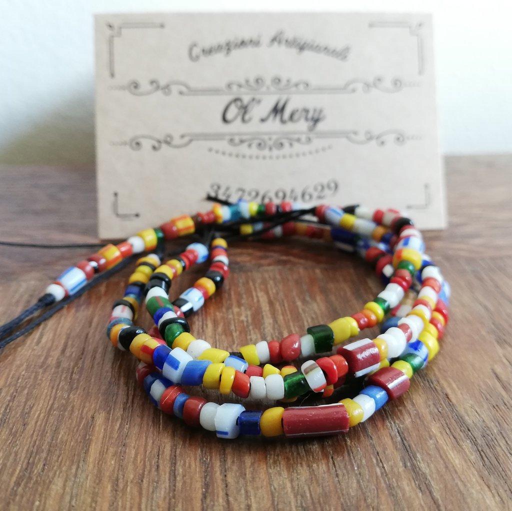 Bracciali colorati con murrine