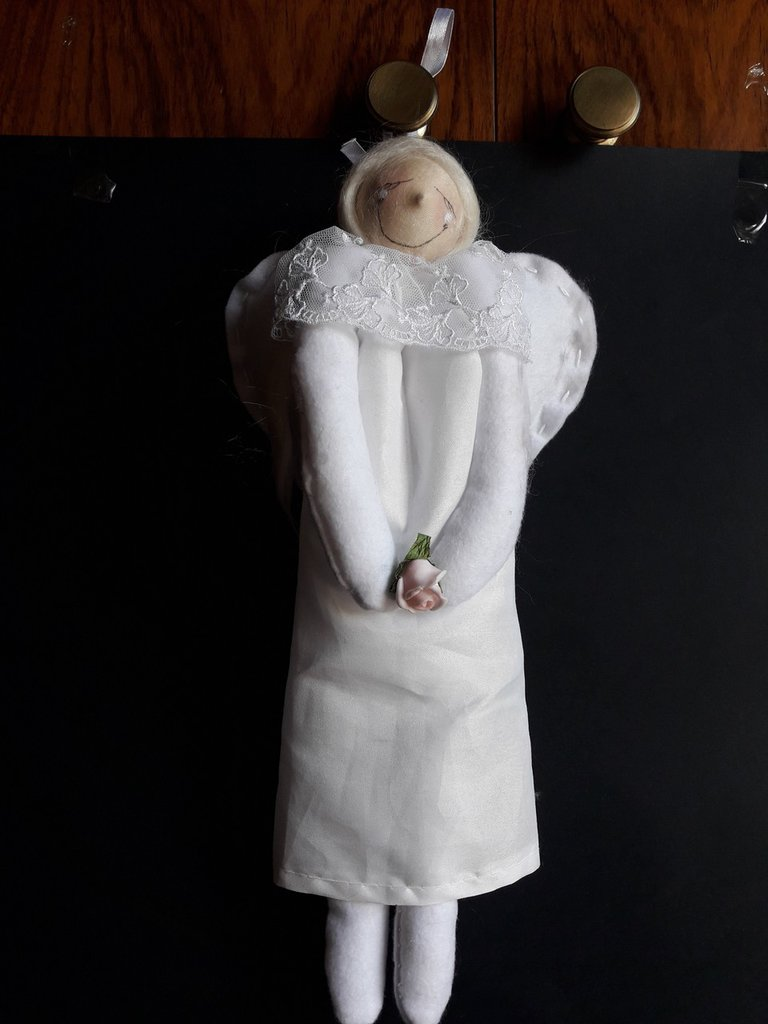 Cartamodello angelo bianco