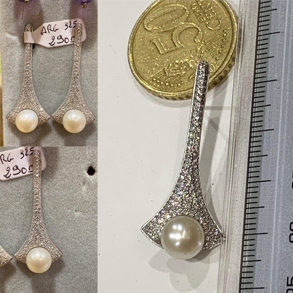 Orecchini eleganti in Argento925 e Perla Coltivata