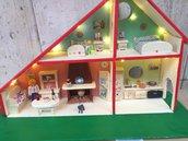 Casetta Playmobil decorata