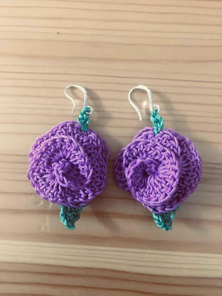 orecchini - forma rosa