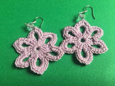 orecchini - forma fiore 6 petali