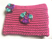 pochette porta trucchi rosa fucsia