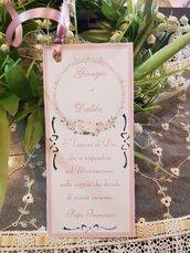 Segnalibro Matrimonio Personalizzato