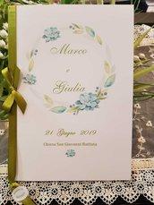 Libretto Messa Matrimonio Personalizzato fiori