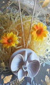stampo profumatore tondo con orchidea diam.cm. 7.5
