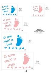Magnete nascita piedini con frase personalizzato 6x4