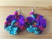 orecchini multicolore forma fiore
