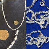 Collana brillante in Diamante Herkimer