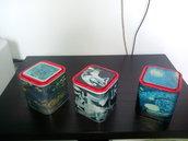 Scatole d'arte riciclate