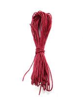 10 metri cordino cotone 1mm rosso bordeaux