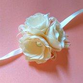 Braccialetto di fiori per damigella matrimonio