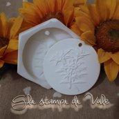 Stampo medaglia con fiori in silicone