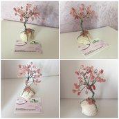 Albero della vita Bonsai ciliegio in fiore