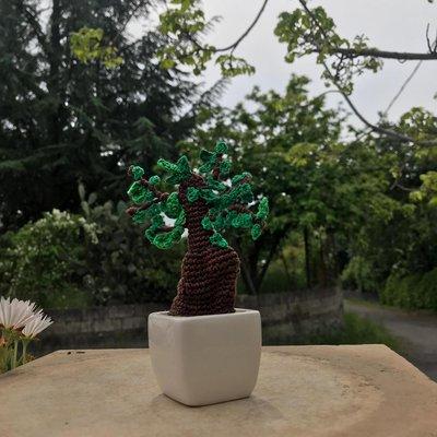 Bonsai Amigurumi Con Vasetto