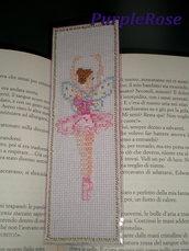 Segnalibro punto croce #2 Fatina ballerina