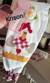 Porta sacchetti con gallina 2D