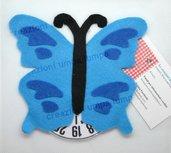 disco orario farfalla blu azzurra
