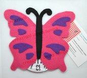 disco orario farfalla viola rosa fucsia