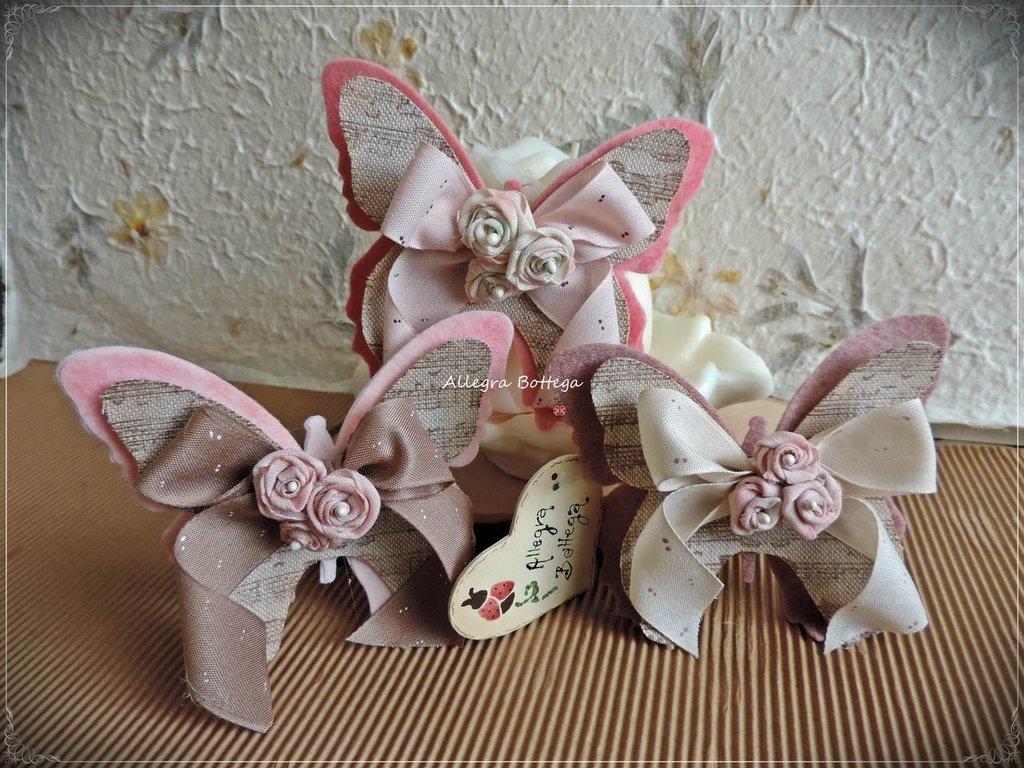 Farfalle e roselline