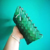 Pochette candy wrapper bag verde