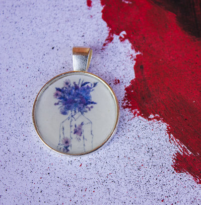 Floral Head | Collana in resina | Chrysalism