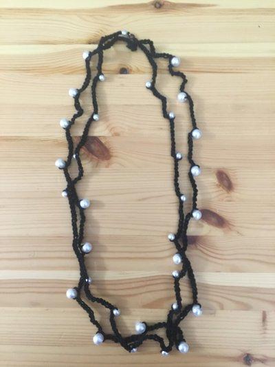 collana - bracciale, due fili con perle