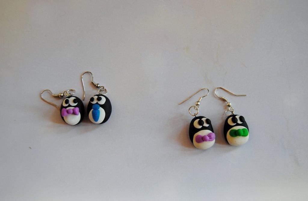 Orecchini pinguinotti