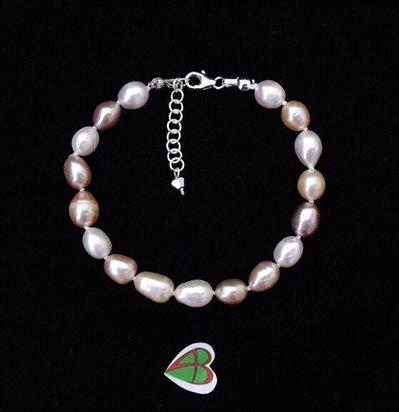 Bracciale Perle di Fiume Rosa