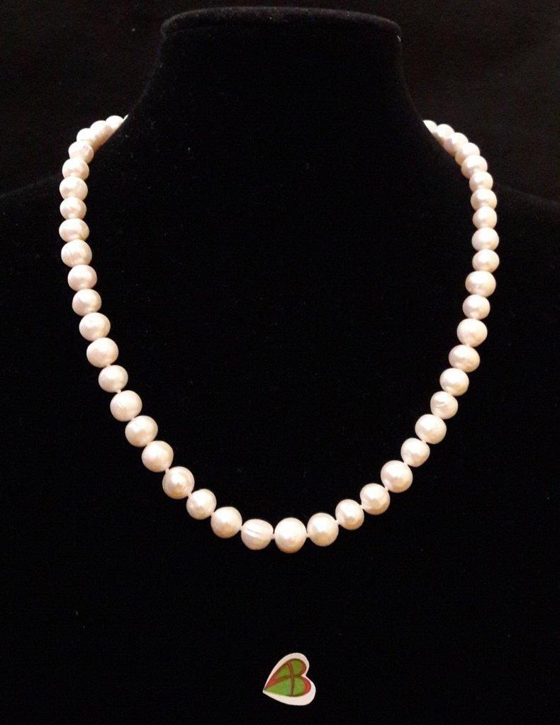 Collana Perle di Fiume Bianche