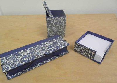 Conjunto de escritorio en cartonnage
