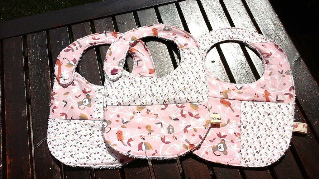 Bavaglia patchwork fantasia rosa