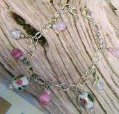 Bracciale perle e rose