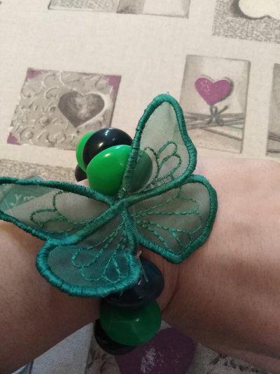 bracciali perline farfalla