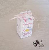portaconfetti milk box unicorno bimba personalizzabile