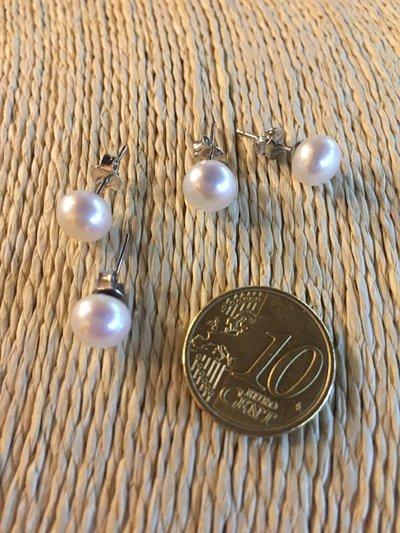 Orecchini classici in argento 925 con perla coltivata