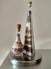 Bottiglie decorative in vetro