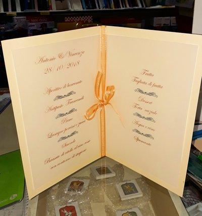 Anniversario Di Matrimonio Menu.Menu 60 Anniversario Feste Matrimonio Di Cartolibreria