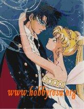Schema per ricamo punto croce Sailor Moon x quadro