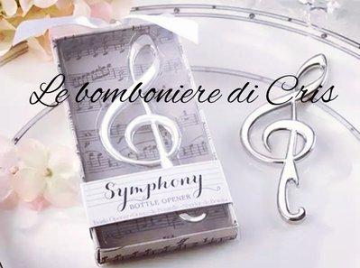 Bomboniera apribottiglie chiave di violino