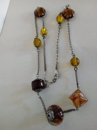 Collana perle di vetro